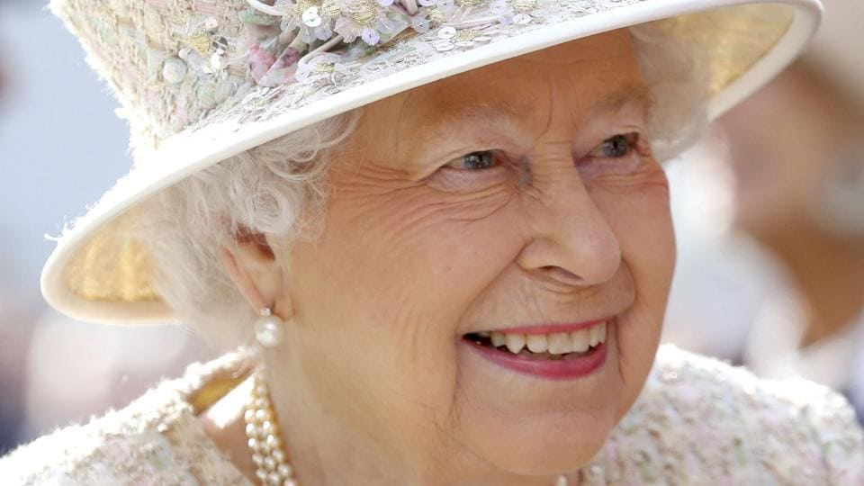 Britain's Queen Elizabeth attends the opening of a new development at The Charterhouse at Charterhouse Square in London.