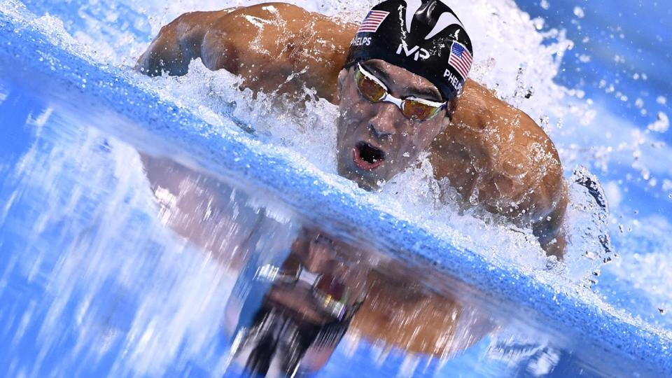 This file photo taken on August 12, 2016 shows USA's Michael Phelps competing to win the men's 200m Individual Medley final at the Rio 2016 Olympic Games. Phelps closed the trophy cabinet after winning his 23rd Olympic gold medal, a stratospheric record. At 31, the greatest swimmer in history is the