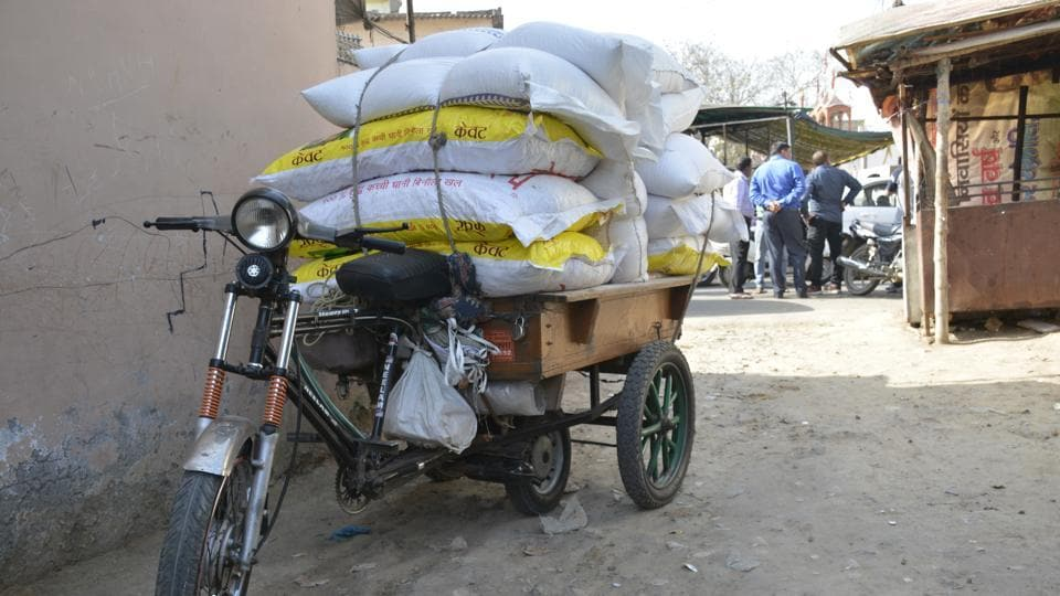 The 'jugaad' is an illegal vehicle, which consists of a trolley with wheels that are mounted on a chassis and fitted with an old scooter engine. It is made with scrap parts of scooters and is widely used by shopkeepers and vendors to ferry goods to and from the markets.
