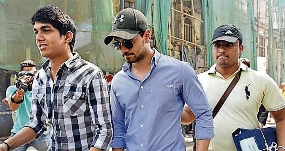Actor Sooraj Pancholi outside a sessions court in Mumbai on Tuesday.