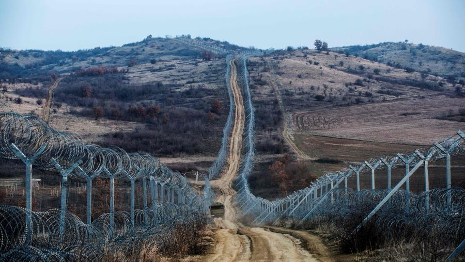 Ageneral view of Macedonia's southern border with Greece. Built to keep out migrants, traffickers, or an enemy group, border walls have emerged as a one-size-fits-all response to the vulnerability felt by many societies in today's globalized world, says an expert on the phenomenon. Practically non-existent at the end of World War II, by the time the Berlin Wall fell in 1989 the number of border walls across the globe had risen to 11. That number has since jumped to 70, prompted by an increased sense of insecurity following the September 11, 2001 attacks in the United States and the 2011 Arab Spring, according to Elisabeth Vallet, director of the Observatory of Geopolitics at the University of Quebec in Montreal (UQAM).  (Robert ATANASOVSKI / AFP)