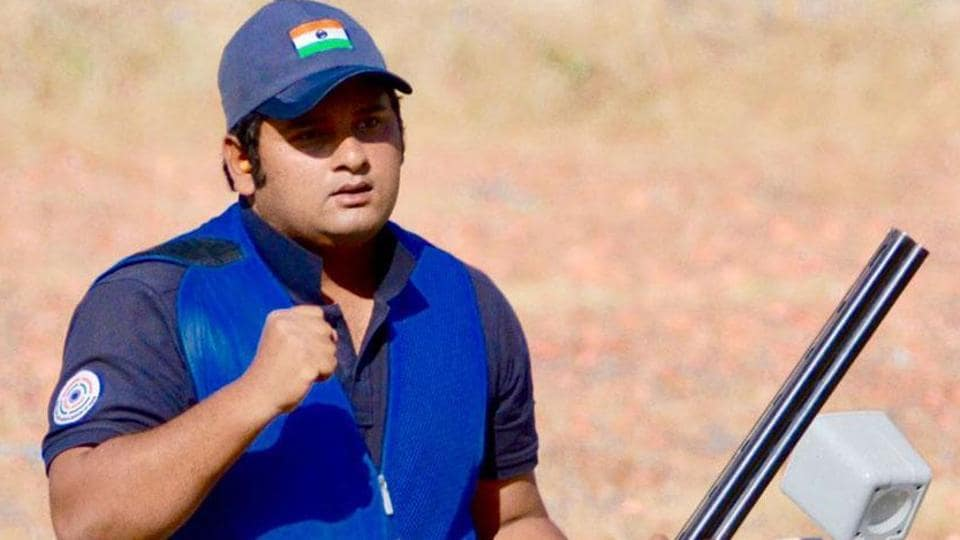 Sheeraz Sheikh competed in the final of the skeet shooting event at the ISSF World Cup.