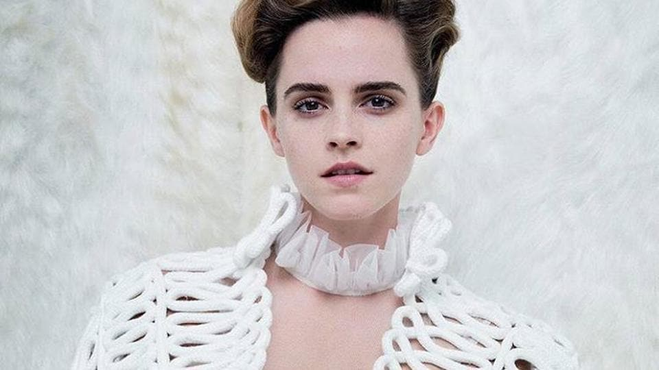 Emma Watson in one of the pictures from the Vanity Fair shoot.