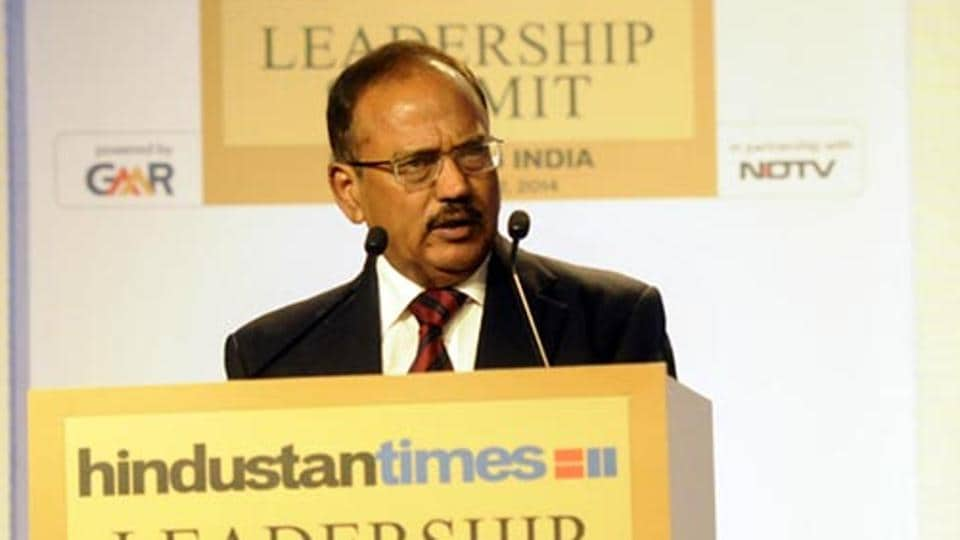 National security advisor Ajit Doval at the Hindustan Times Leadership Summit in New Delhi.