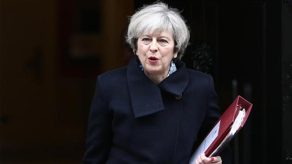 Britain's Prime Minister Theresa May leaves Downing Street in London on March 1, 2017.