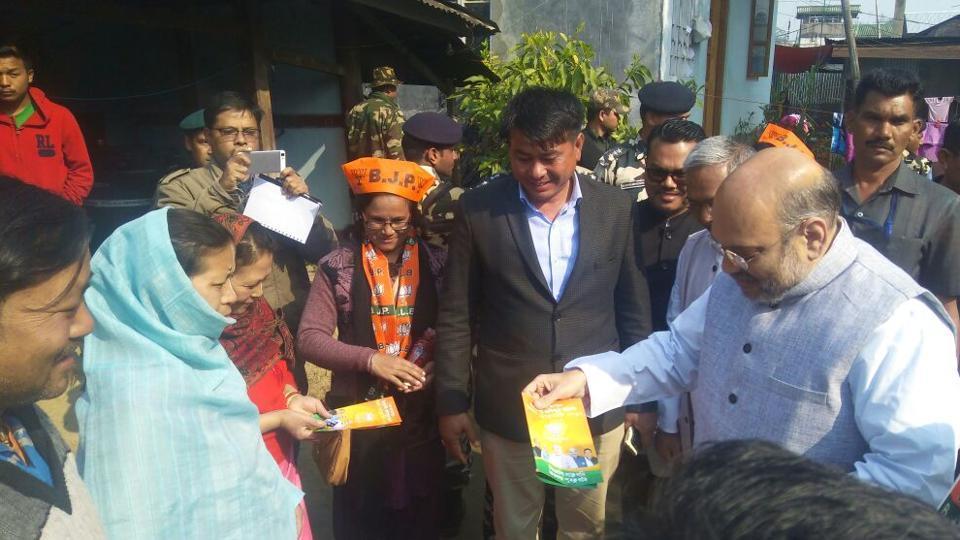 BJP,Amit Shah,Manipur Polls
