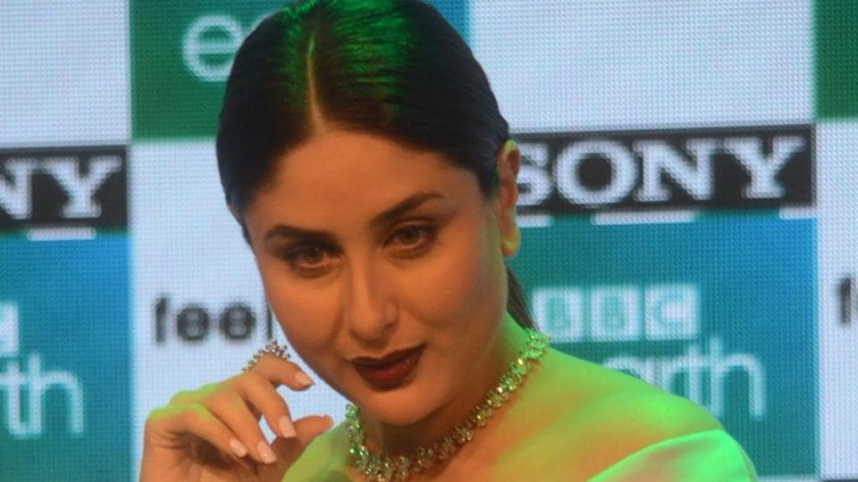 Kareena Kapoor during the launch of premium factual entertainment channel Sony BBC Earth, in Mumbai on March 1.