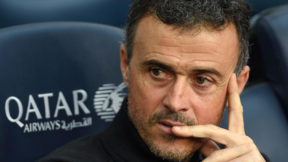 This file photo taken on February 4, 2017 shows Barcelona's coach Luis Enrique before the Spanish league match vs Athletic Club Bilbao at the Camp Nou stadium in Barcelona. Luis Enrique will leave Barcelona at end of season.