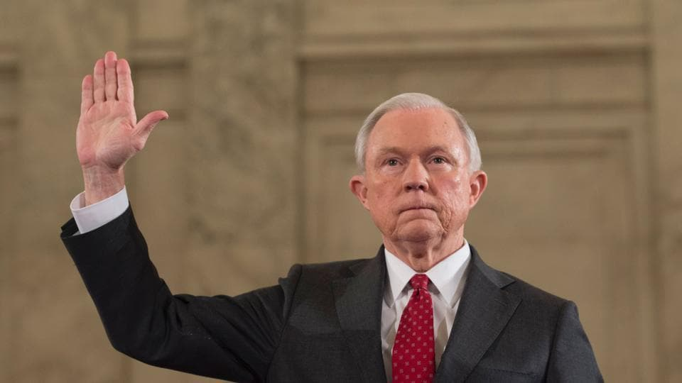 Reports of his two meetings led to calls for Jeff Sessions' resignation by Democrats, who have accused him of misleading congress.