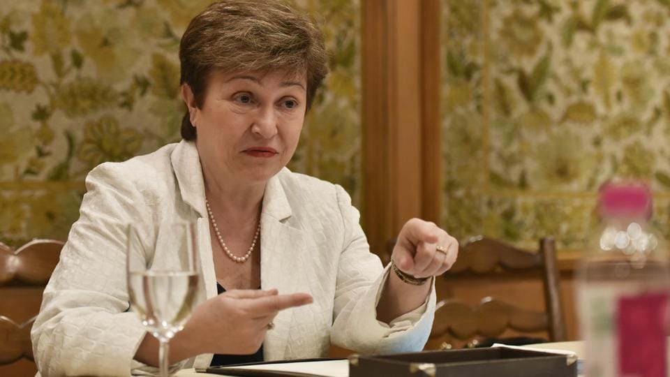 Kristalina Ivanova Georgieva-Kinova, chief executive officer of the World Bank, in an interview with Hindustan Times in New Delhi, on  March 1, 2017.