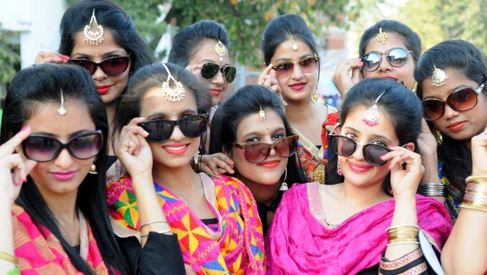 Youth festival being celebrated at Gain Jyoti Institute in SAS Nagar on Thursday. (Anil Dayal/HT Photo )