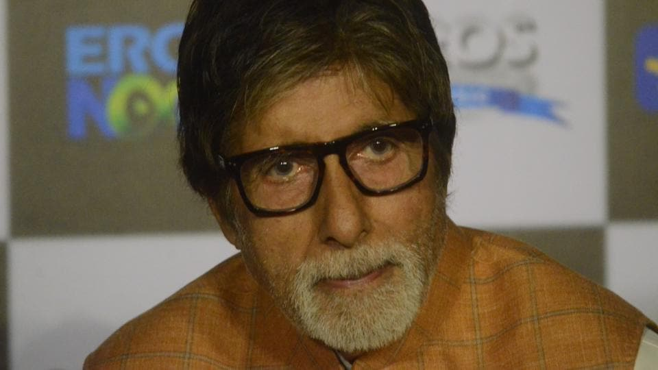 Actor Amitabh Bachchan during the trailer launch of his upcoming film Sarkar 3 in Mumbai on March 1, 2017.