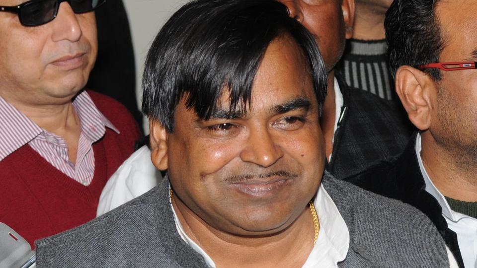 Gayatri Prasad Prajapati apparently apprehends that his own guards may reveal his location and has given them the slip.