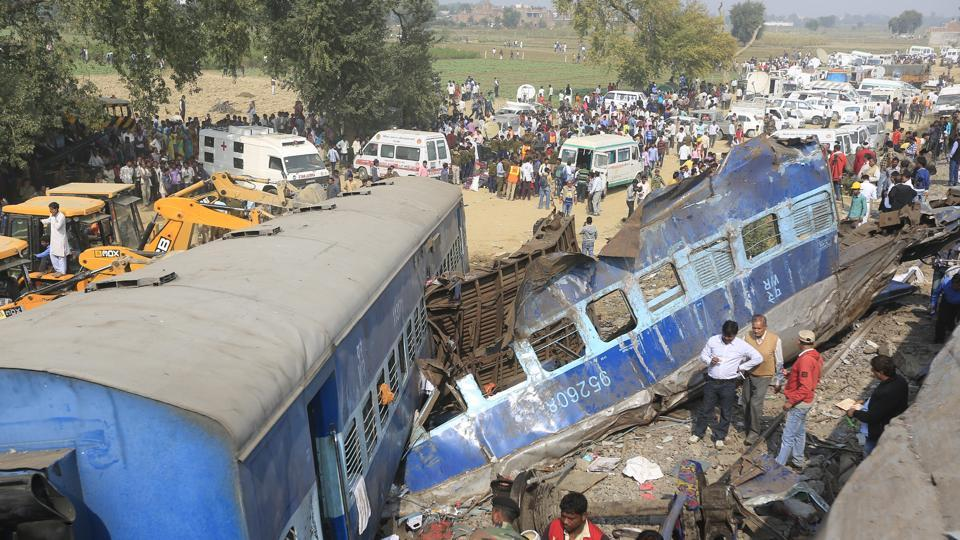 Fourteen coaches of the Indore-Patna Express had derailed near Kanpur on November 20 last year, killing over 150 people.