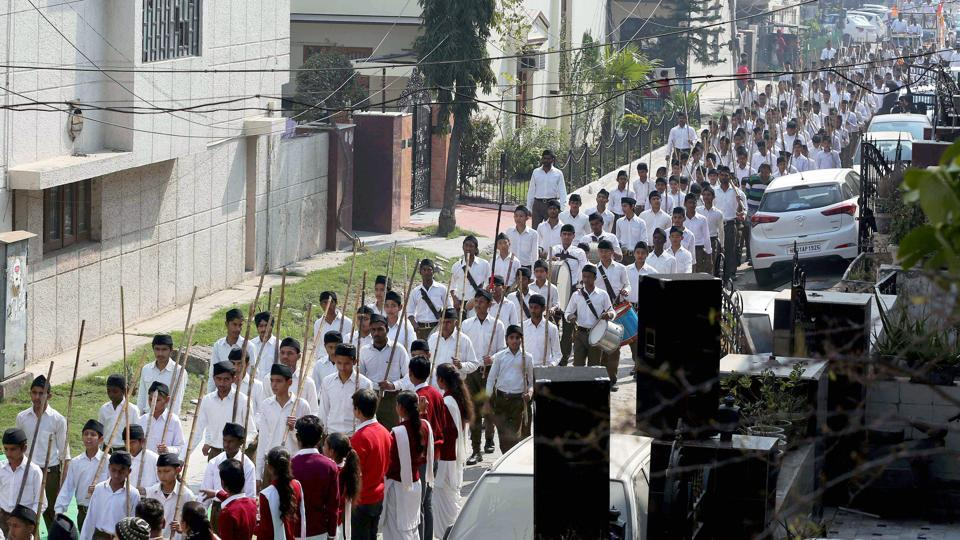Like in 2014, the RSS appears to have deployed its entire machinery to secure a BJP victory in the Uttar Pradesh assembly election.