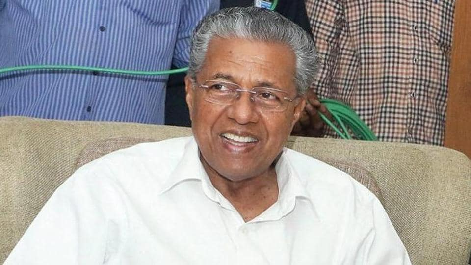 RSS leader Kundan Chandrawat has offered of Rs one crore to anyone who  beheads Kerala chief minister Pinarayi Vijayan (in photo). Vijayan has been blamed by the RSS leader for the killing of right-wing activists in the southern state. (HT file photo)