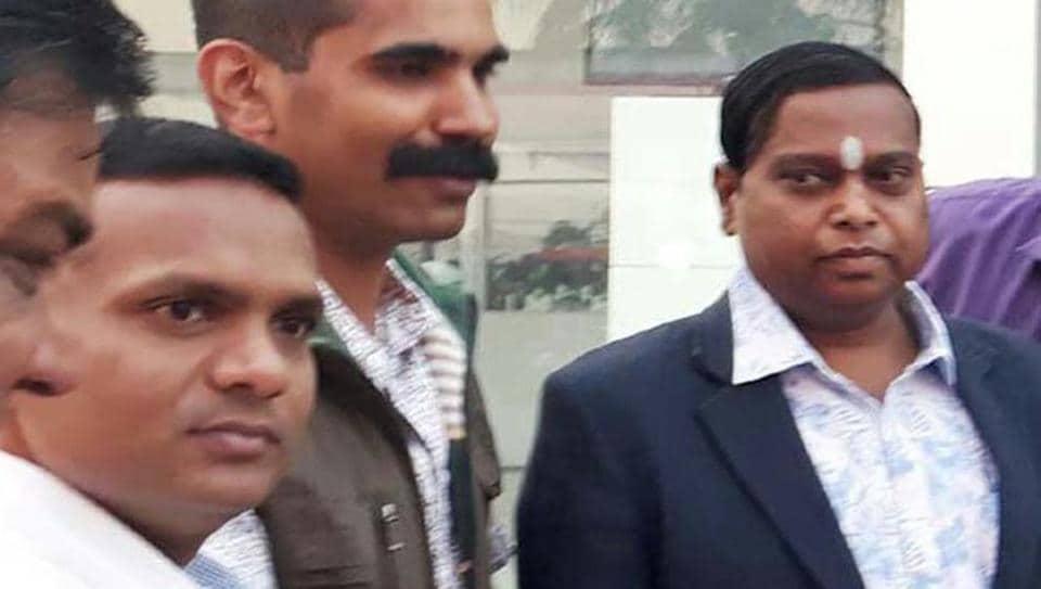 Sukma superintendent of police (SP), Indira Kalyan Elesela (left) with Jagdalpur SP, RNDash (centre), with inspector general of police, Bastar, SRPKalluri.