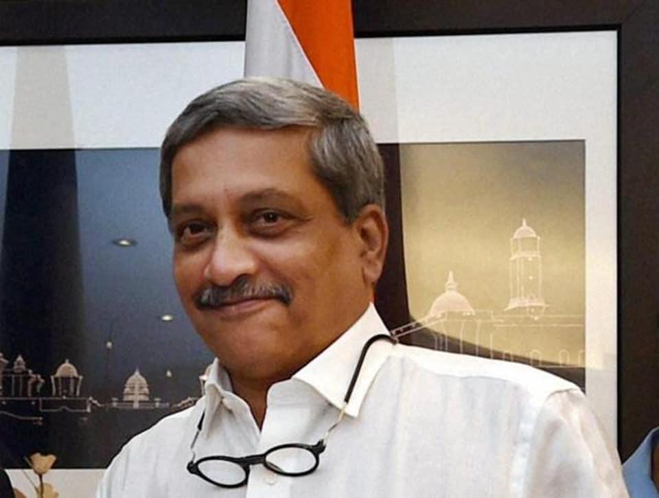 Union minister of defence Manohar Parrikar