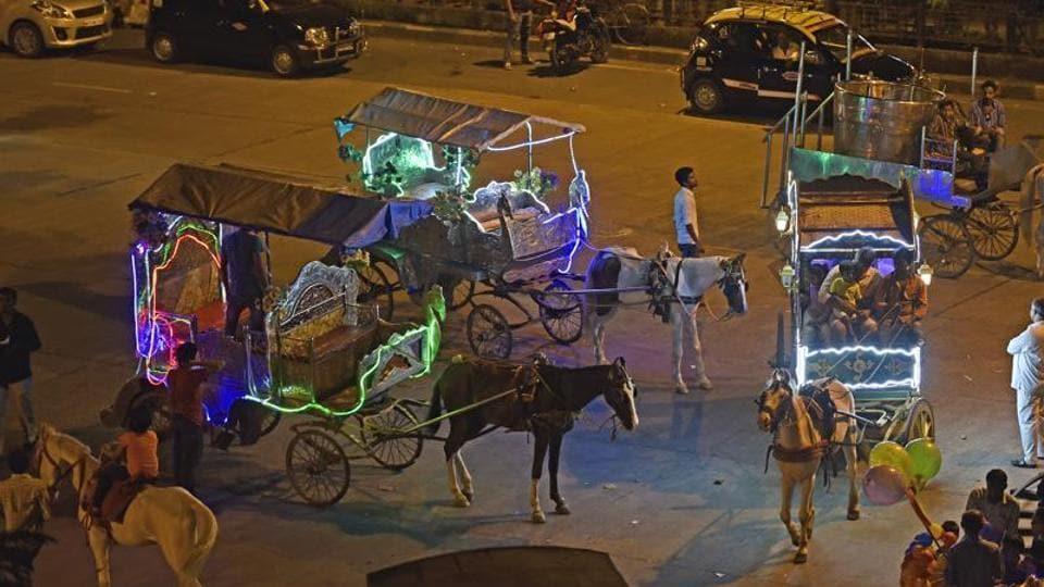 horse carriages,Victoria carriages,Sudhir Mungantiwar