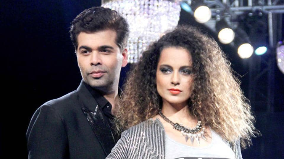 Actor Kangana Ranaut called filmmaker Karan Johar 'snooty and intolerant' towards outsiders in the film industry.