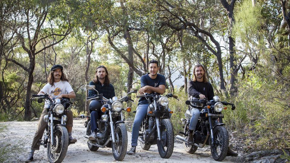 Australian bikers Scott Grills, Ben Butcher, Cameron Perry and Taylor Hogan will be touring India to do something for the kids here.