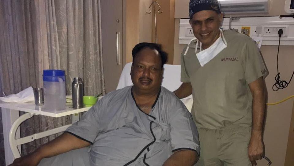 Daulatram Jogawat underwent a successful bariatric surgery in Mumbai on Thursday.