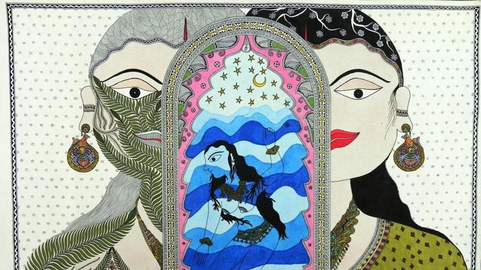 An artwork, The Three Goddesses, will be on display at the upcoming exhibition.