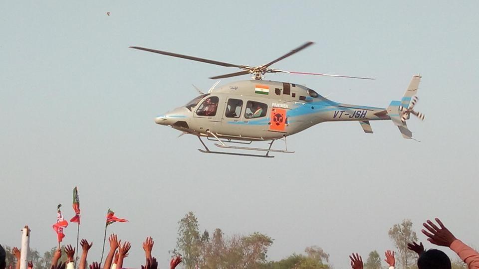 Keshav Prasad Maurya arrives for a public rally in UP's Purvanchal region.