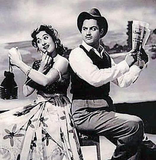 A still from Guru Dutt's 1955 film, Mr & Mrs 55, an utterly anti-woman affair that involved the basest stereotypes and a kidnapping 'for love', followed by the total capitulation of what had been a thinking heroine. Why is it that we let artistes get away with treating women so badly?