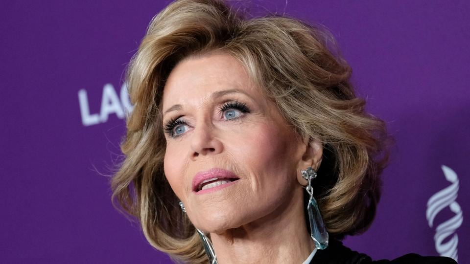 Jane Fonda attends the red carpet arrivals at the 19th Costume Designers Guild awards presented by Lacoste at the Beverly Hilton hotel in Beverly Hills, on February 21.