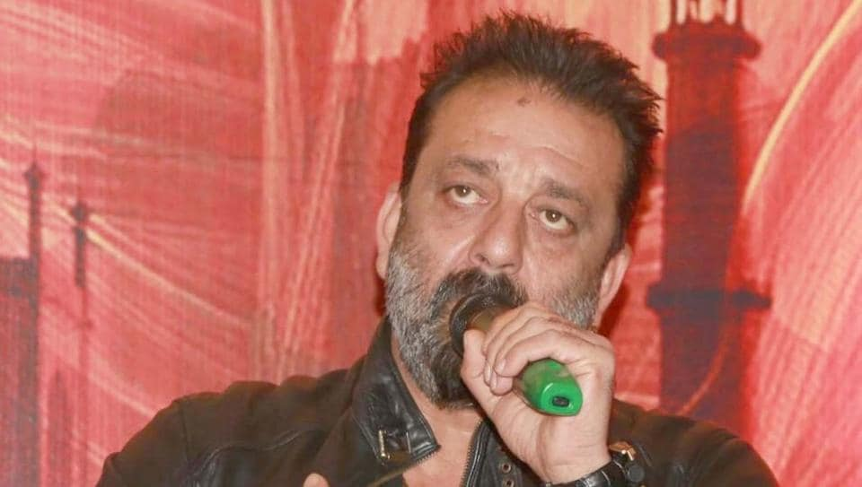 Agra: Actor Sanjay Dutt during a press conference of film