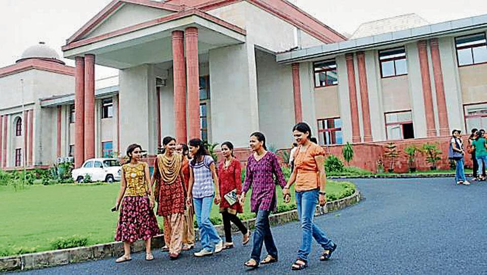 Students at Doon University in Dehradun. Priyanka Negi, the SFI leader and president of the students' council of Doon University, allegedly dubbed the army in Kashmir 'rapist' after her attempt to invite Left leaders to the campus for a seminar on Kashmir was opposed by a majority of the council members