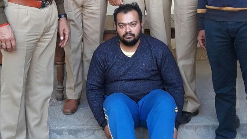Sub-inspector Virender Singh was arrested based on the information provided to the police by Manish Bhardwaj alias Kale (above), the kingpin of the racket.