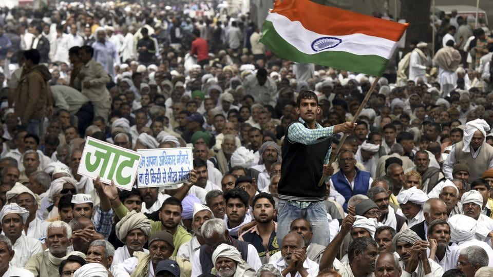 Jat quota protestors warn govt., say will march up to Parliament