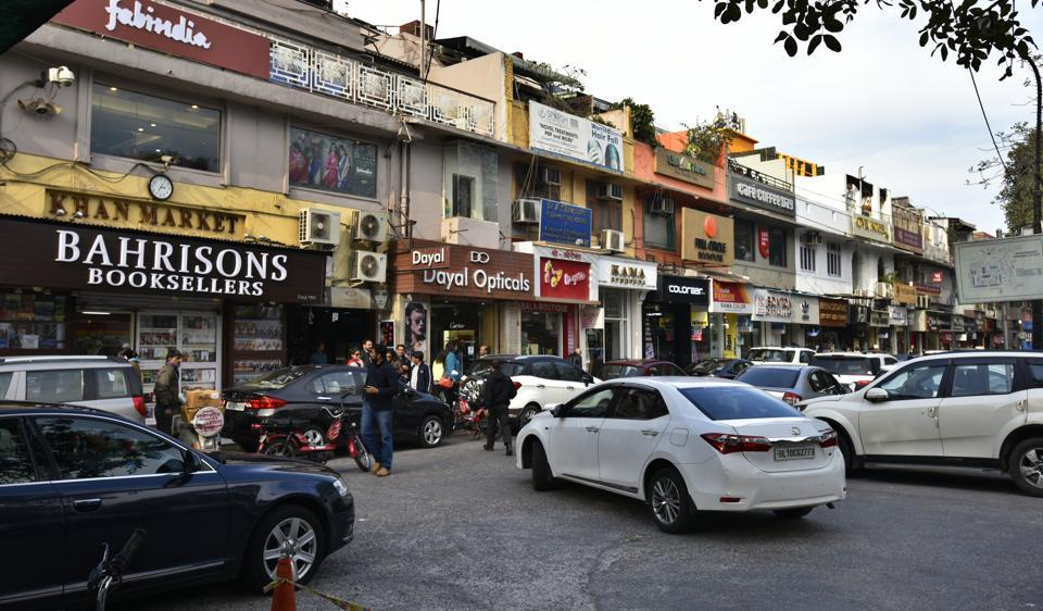 New Delhi, India - Jan. 20, 2017: General view of Khan Market in New Delhi, India, on Friday, January 20, 2017. (Photo by Raj K Raj/ Hindustan Times) to go with Sweta 's story