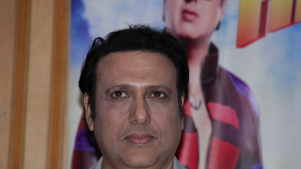 Govinda at Inter School Cricket Tournament Trophy in Mumbai on March 1.