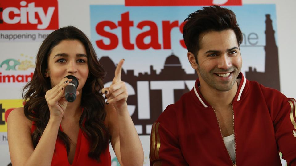 This is Alia and Varun's third film together after their debut project, Student Of The Year (2012), and Humpty Sharma ki Dulhania  (2014). (AMAL KS/ HT PHOTO)