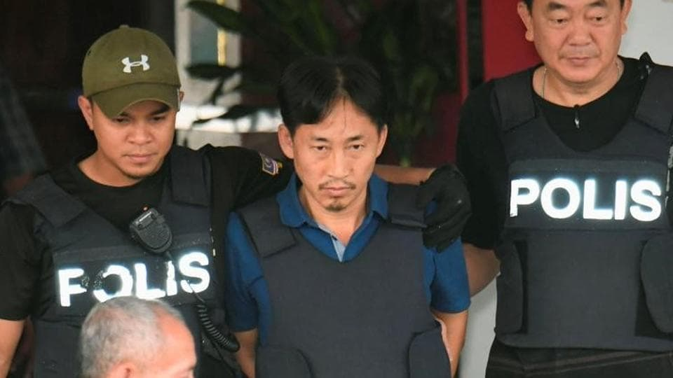 North Korean suspect in Kim Jong Nam murder, Ri Jong Chol, leaves a Sepang police station in Malaysia on March 3.
