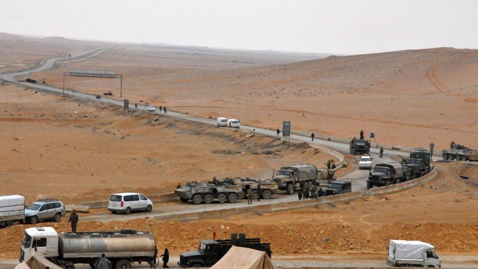 Syrian Army,Russian jets,Palmyra