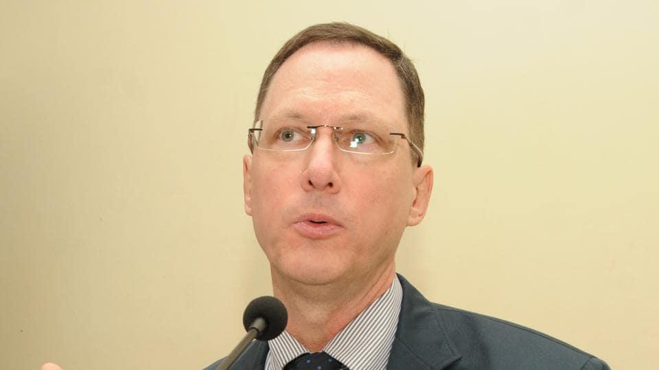 US Consul General, Kolkata - Craig L Hall addressing during a workshop in Ranchi on Thursday