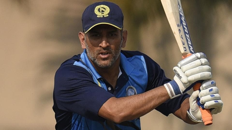 Jharkhand Cricket Team Skipper MS Dhoni scored 28 during the match against Hyderabad Cricket Team in Vijay Hazare Trophy.