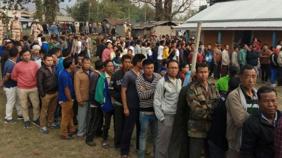 The first phase of Manipur assembly elections began on Saturday.