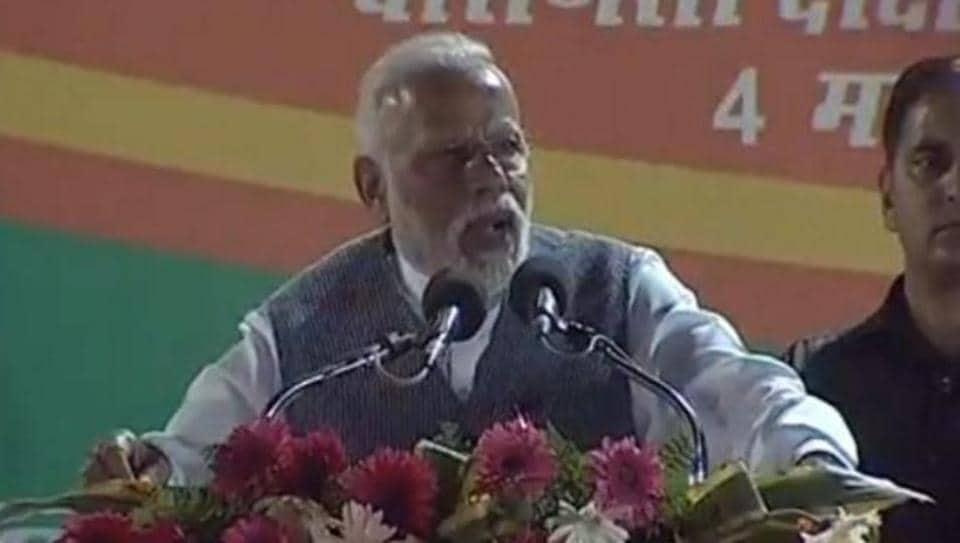 Prime Minister Narendra Modi in Varanasi