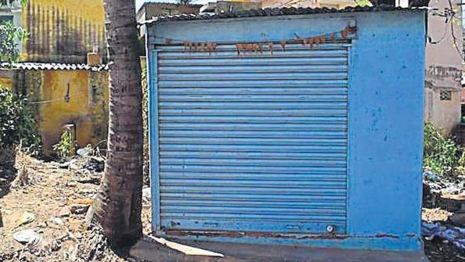 One of the three salons at Manchanabale village in Karnataka that has been shut for more than a year.