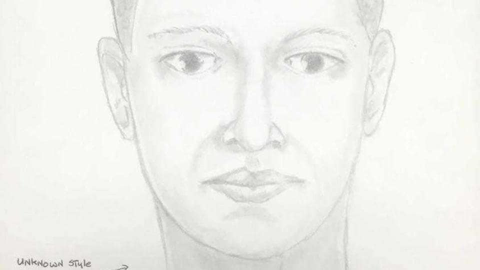 A sketch of the man being sought in the attempted rape case of an 88-year-old woman in her Parkesburg, Chester County, apartment on Feb 17.