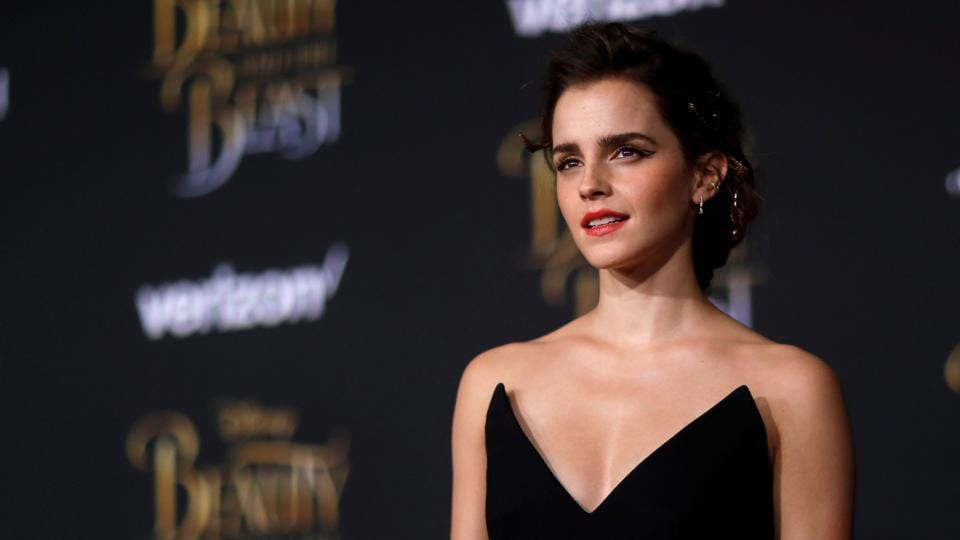 Cast member Emma Watson poses at the premiere of Beauty and the Beast in Los Angeles.