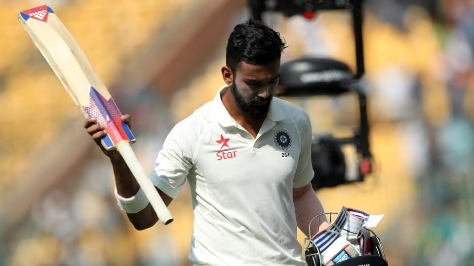 KL Rahul shone through for India with a gritty 90 but India folded up for 189 on the opening day of the second Test against Australia in Bangalore.