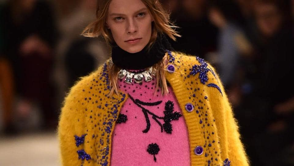 A creation by  Prada, showcased during the recently held fashion week in Milan.