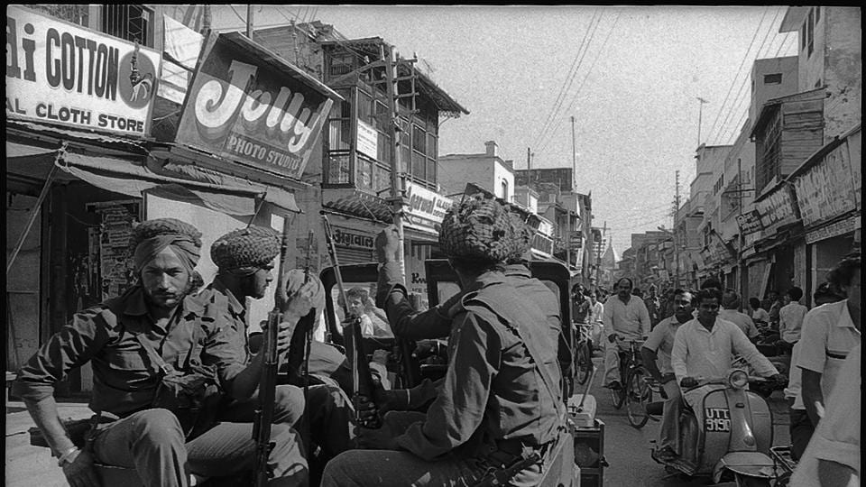 The army in Meerut on 26 May 1987.