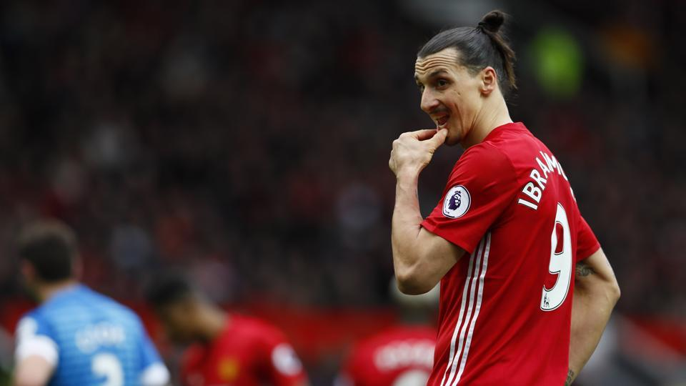 Manchester United's Zlatan Ibrahimovic after missing the penalty against AFCBournemouth.